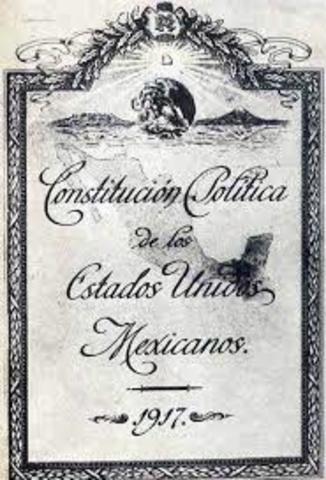 Primera Etapa, Constitución de 1917