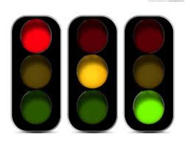 First UK traffic lights
