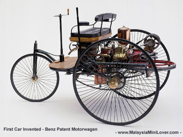 First Petrol driven motor vehicle