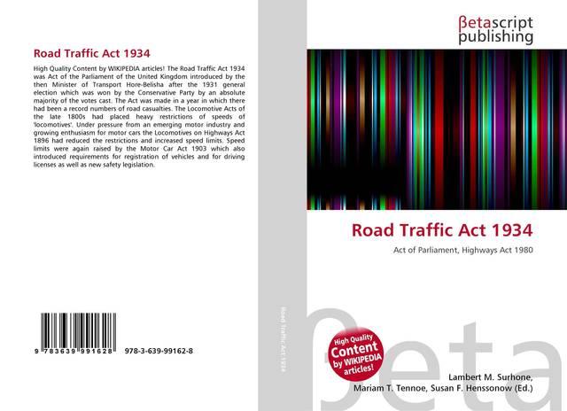 1934 Road Traffic Act