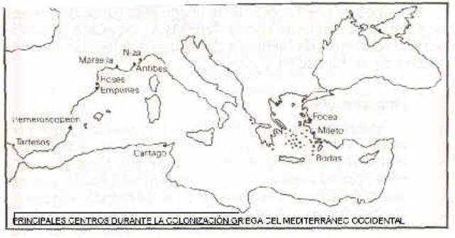 -600 Colonización griega de Hispania.