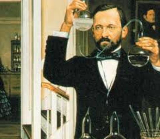Luis Pasteur. Demuestra que hay animáculos en el aire