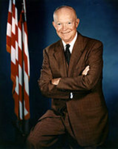 Diwght D. Eisenhower is reelected