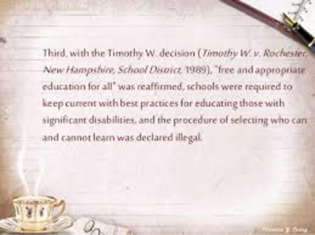 TIMOTHY V. ROCHESTER SCHOOL DISTRICT