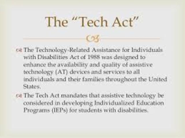 TECHNOLOGY-RELATED ASSISTANCE FOR INDIVIDUALS WITH DISABILITY ACT