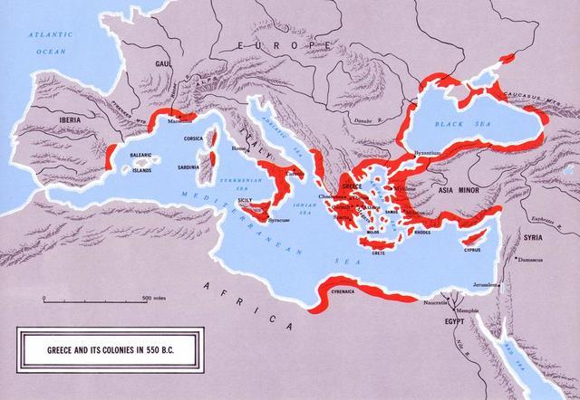 Greek Colonialization 750 BCE - 600 BCE