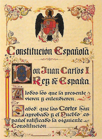 Signing of the Spanish Constitution