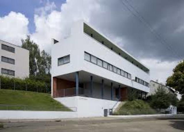 Edificio de Le Corbusier, en Stuttgart.