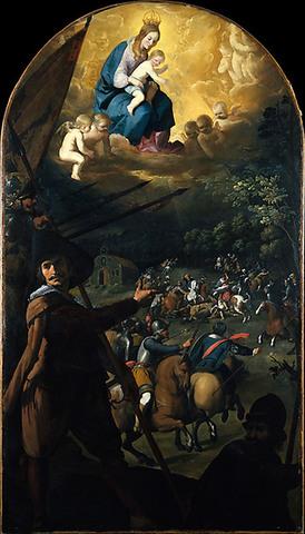The Battle between Christians and Moors at El Sotillo