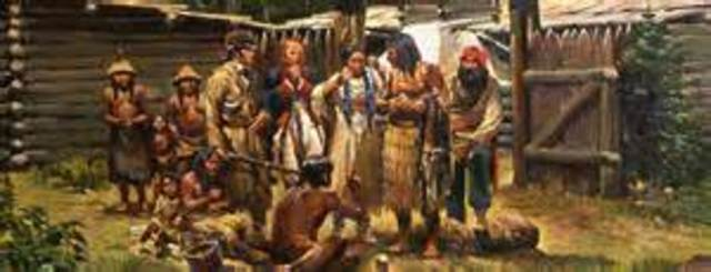 Lewis & Clark receive help from the Nrez Perce indians