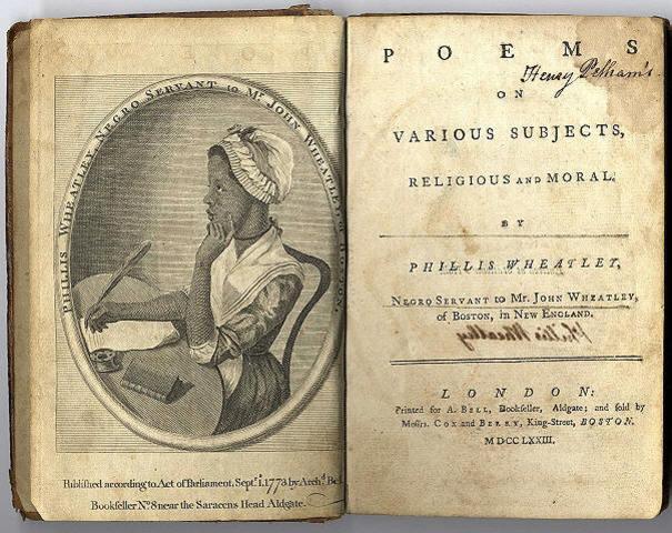 Phillis Wheatly (1754-1784)
