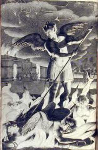 John Milton begins Paradise Lost/