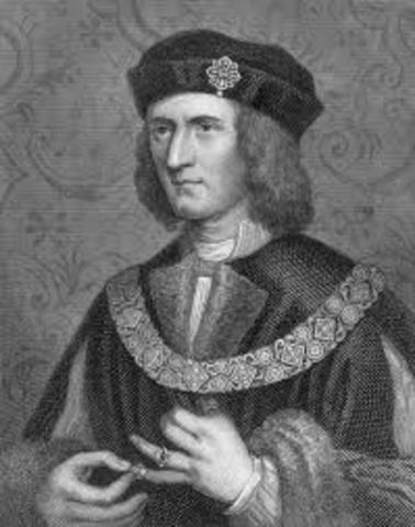 Richard 3 is killed in battle.