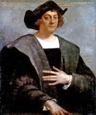 Christopher Columbus reaches the Americas.
