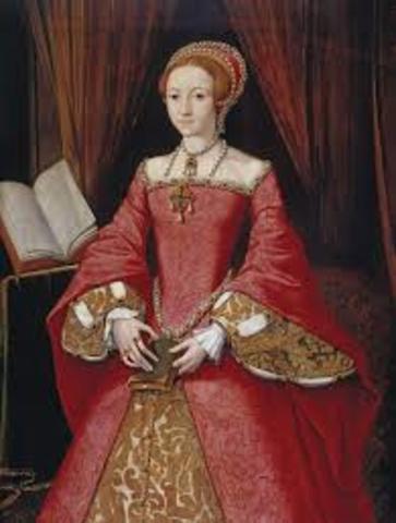 Elizabeth 1st becomes queen of England.
