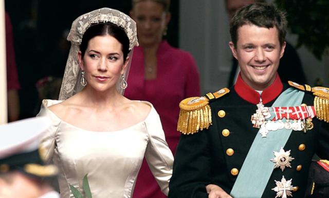 Kronprins Frederik & kronprinsesse Mary blev gift