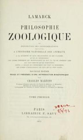 Philiosophie Zoologique published