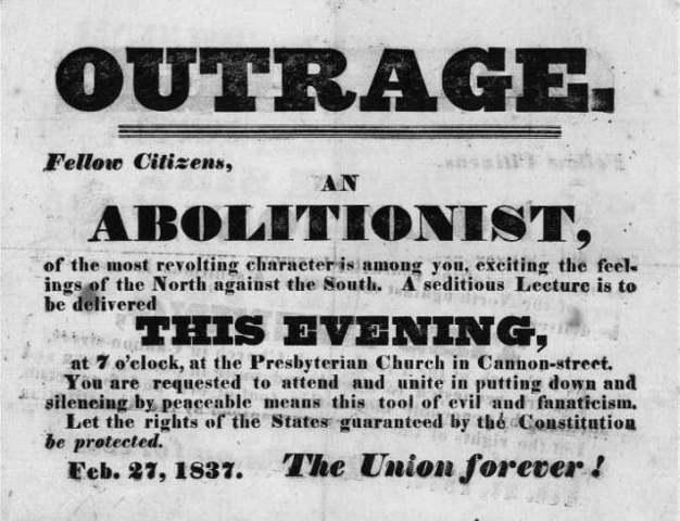 Abolitionist movement starts