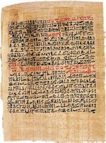 Se inventa el papiro (3000a.C.)
