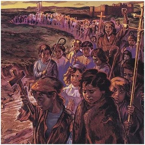 Siglo XIII; niños de las cruzadas