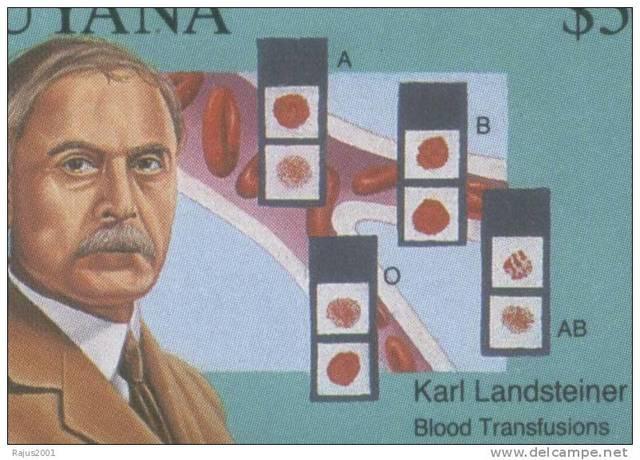 descubre los gruos sanguineos abo (karl landsterner