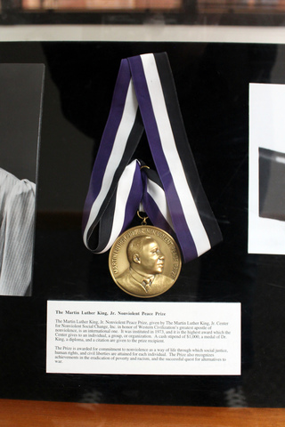MLK recieves Nobel Piece Prize