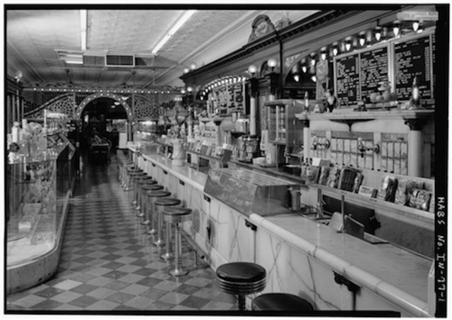 """Soda Fountains Become Popular During """"The Great Depression"""" at soda parlors"""