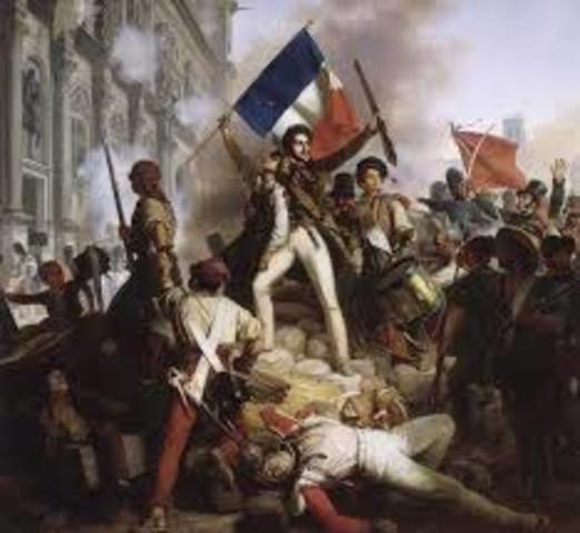 Oleadas revolucionarias en Francia y Bélgica