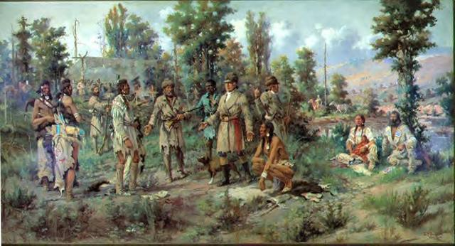Peaceful Trade with the Indians