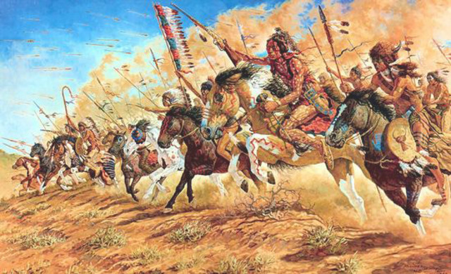 Confrontation with the Blackfeet Warriors