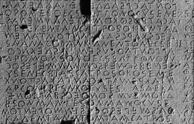 The Return of Writing to Greece. 800 BCE.