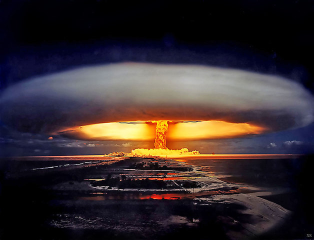 The Hydrogen Bomb is first used