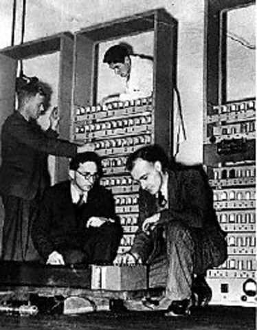 The EDSAC is assembled