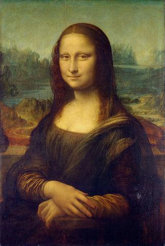 Leonardo Da Vinci paints Mona Lisa