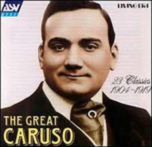 Enrico Caruso heard the first live broadcast