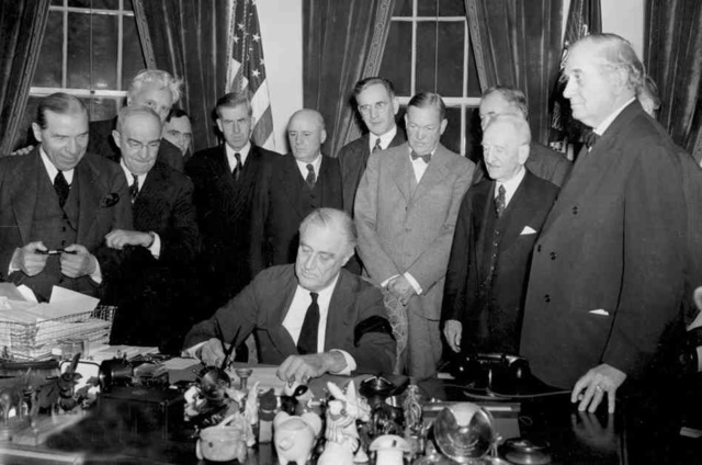U.S. & Britain Declare War on Japan