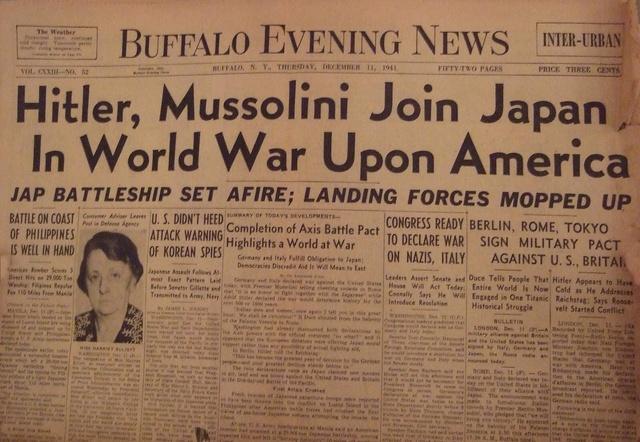 Germany & Italy Declare War on U.S.