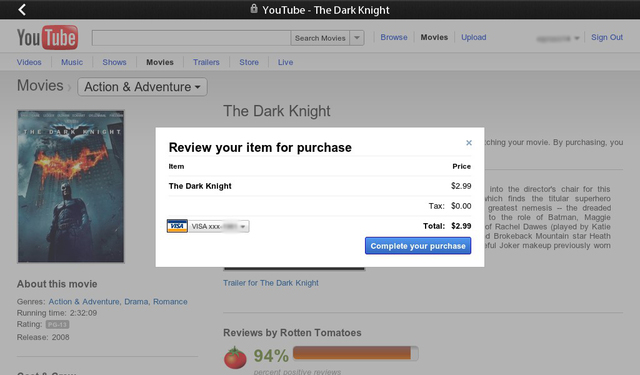Youtube Rental