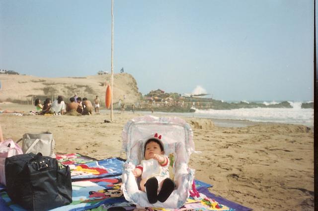Mi primera vez en la playa