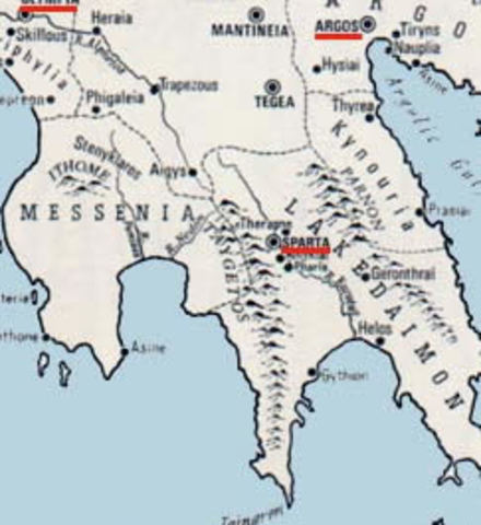 First Messenian War: Sparta Grows in power and size 735 BCE - 715 BCE