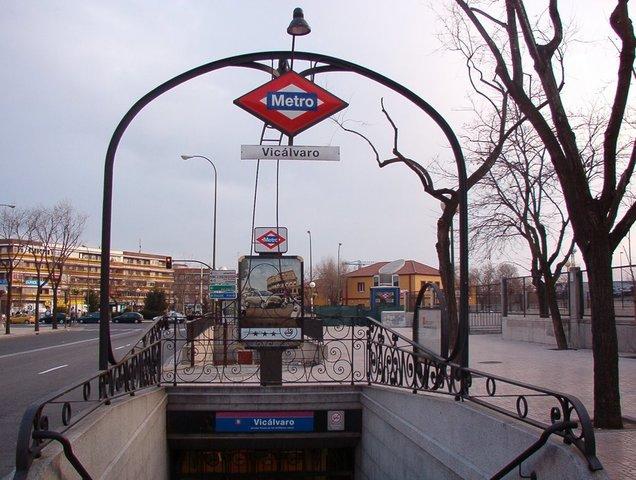El metro llega a  Vicálvaro.