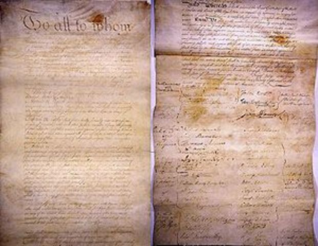 Articles of Confederation endorsed by the Continental Congress and submitted to the colonies for ratification