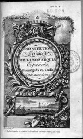Influencia de la Constitucion de la monarquia Española de 1812.