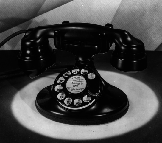 Round Base Rotary Dial Monophone - Bell System