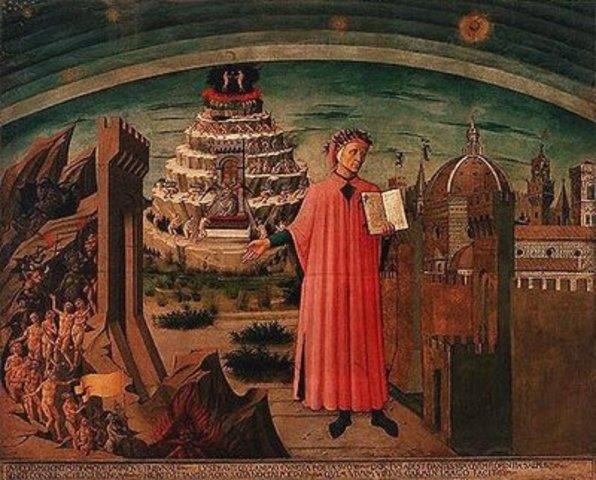 """""""El Purgatorio"""", de Dante Alighieri."""
