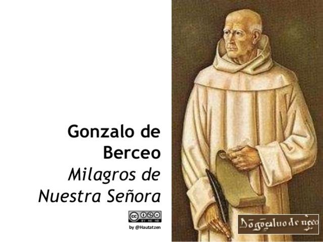 """BERCEO, Gonzalo """"Milagros de nuestra señora"""