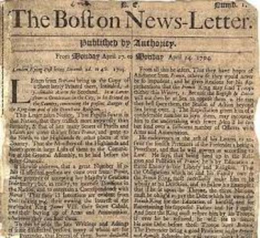 Boston News Letter First Published