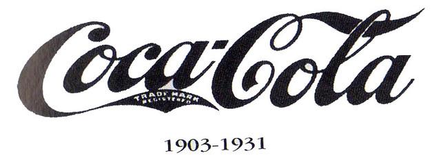 1903 Coca Cola logo