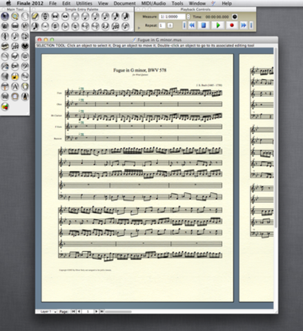 Finale Music Notation 1.0