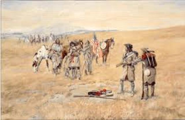 Lewis and Clark Meet the Shoshone